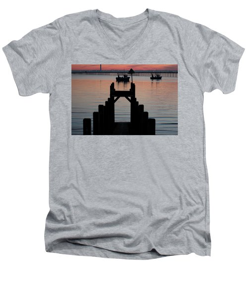 Down To The Sunset Sea Men's V-Neck T-Shirt