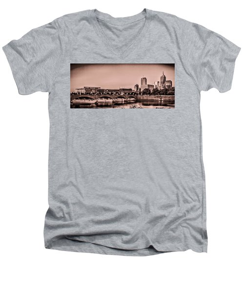 Downtown Indianapolis Men's V-Neck T-Shirt