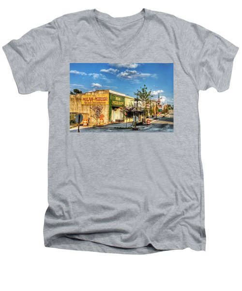 Downtown Milan Men's V-Neck T-Shirt