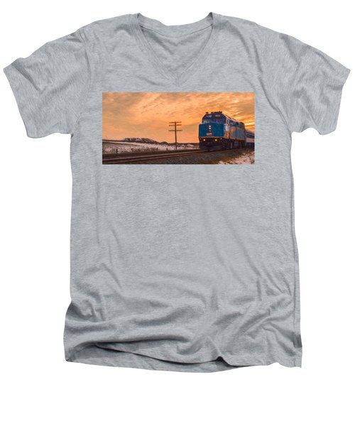 Downtown Train Men's V-Neck T-Shirt