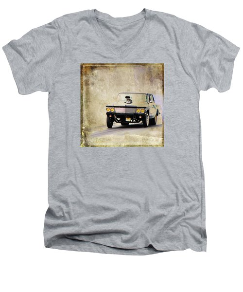 Drag Time Men's V-Neck T-Shirt by Steve McKinzie