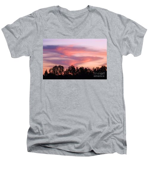 Men's V-Neck T-Shirt featuring the photograph Dragon Clouds by Meghan at FireBonnet Art