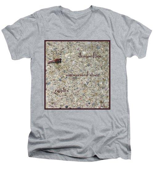 Dragonflies Haiga Men's V-Neck T-Shirt