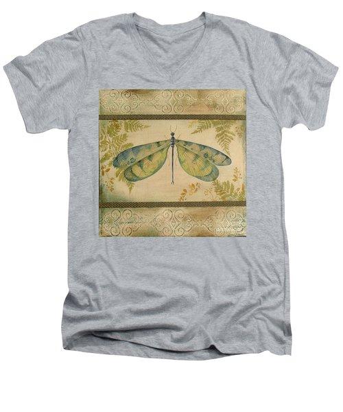 Dragonfly Among The Ferns-1 Men's V-Neck T-Shirt
