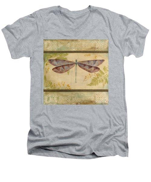 Dragonfly Among The Ferns-3 Men's V-Neck T-Shirt