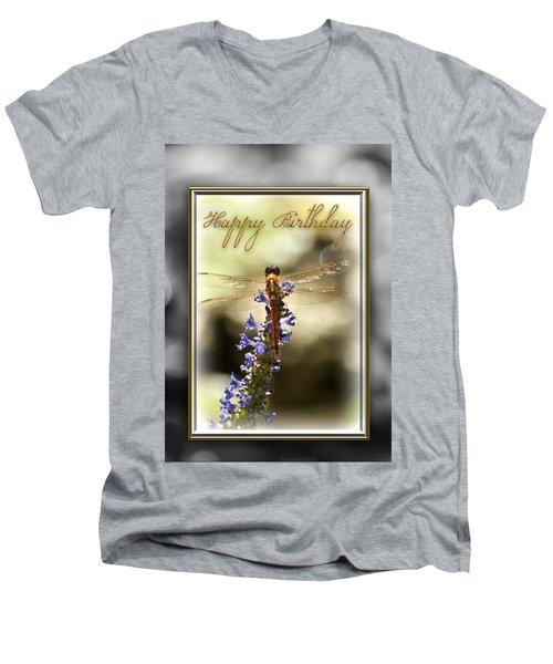 Dragonfly Birthday Card Men's V-Neck T-Shirt