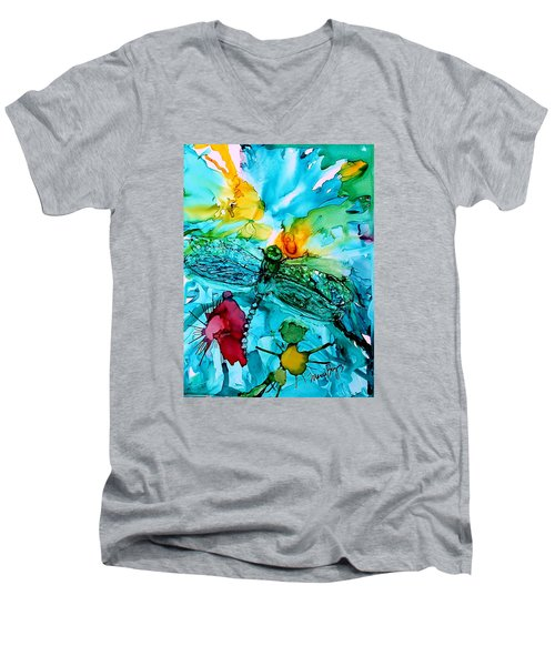 Dragonfly Blues Men's V-Neck T-Shirt