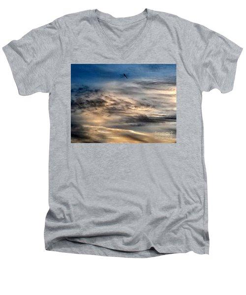Dragonfly In The Sky Men's V-Neck T-Shirt
