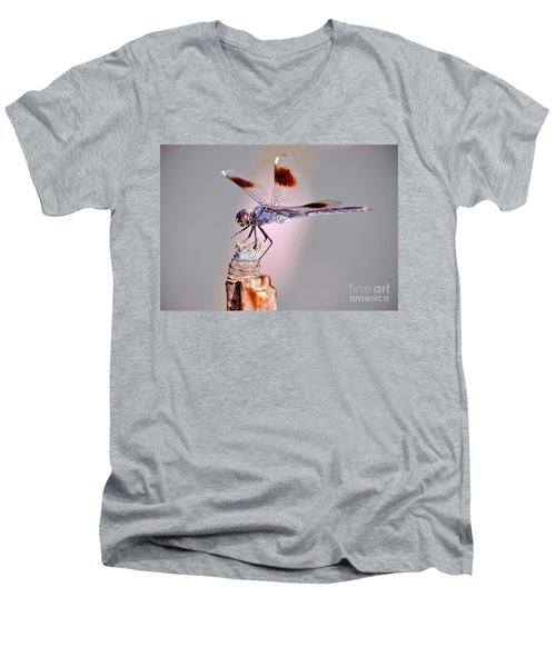 Men's V-Neck T-Shirt featuring the photograph Dragonfly by Savannah Gibbs