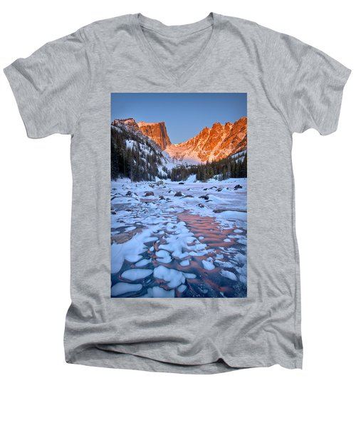Dream Lake - Rocky Mountain National Park Men's V-Neck T-Shirt by Ronda Kimbrow