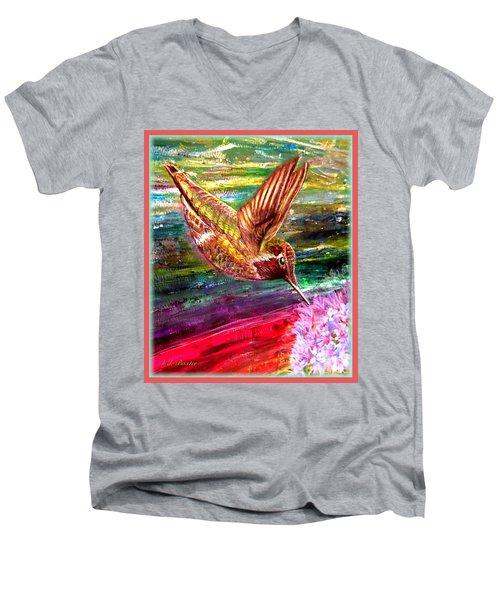 Dream Of A Hummingbird  Men's V-Neck T-Shirt