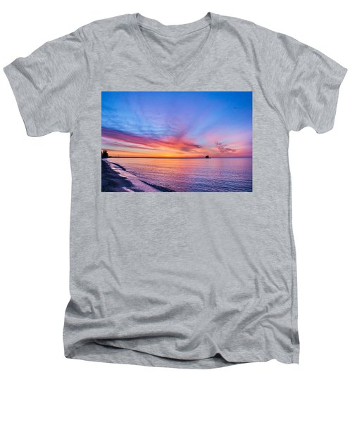 Dreamer's Dawn Men's V-Neck T-Shirt