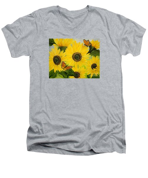 Dreaming Of Summer Men's V-Neck T-Shirt by Carol Sweetwood