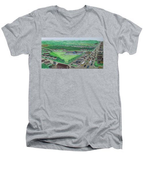 Dreamland Swimming Pool In Portsmouth Ohio 1950s Men's V-Neck T-Shirt