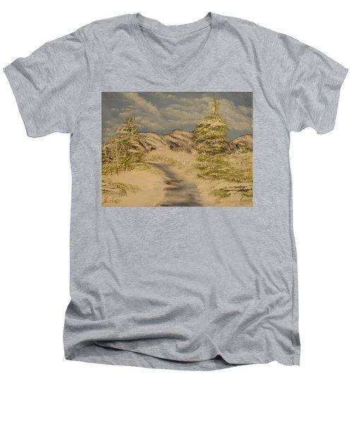Dreams Of Snow Men's V-Neck T-Shirt