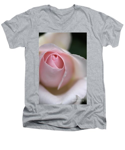 Men's V-Neck T-Shirt featuring the photograph Dreamy Rose by Joy Watson