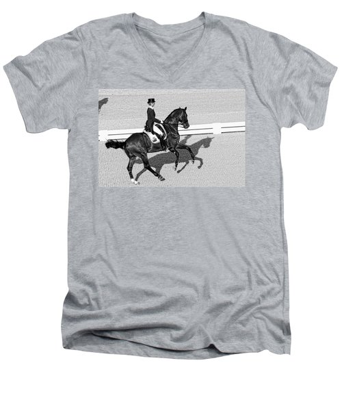 Dressage Une Noir Men's V-Neck T-Shirt