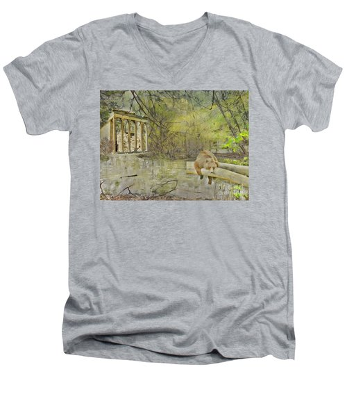 Men's V-Neck T-Shirt featuring the photograph Drifter by Liane Wright