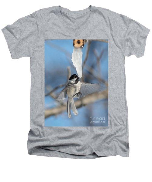 Drinking In Flight Men's V-Neck T-Shirt by Cheryl Baxter