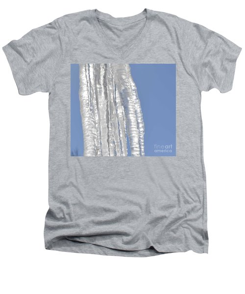 Men's V-Neck T-Shirt featuring the photograph Drip Caught In Action by Luther Fine Art