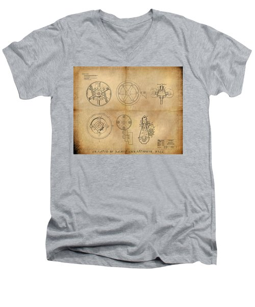 Drive Mechanism Men's V-Neck T-Shirt