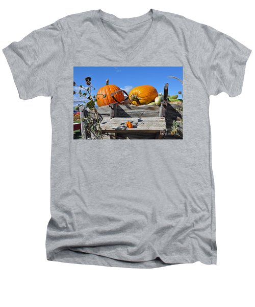 Men's V-Neck T-Shirt featuring the photograph Driver Needed by Minnie Lippiatt