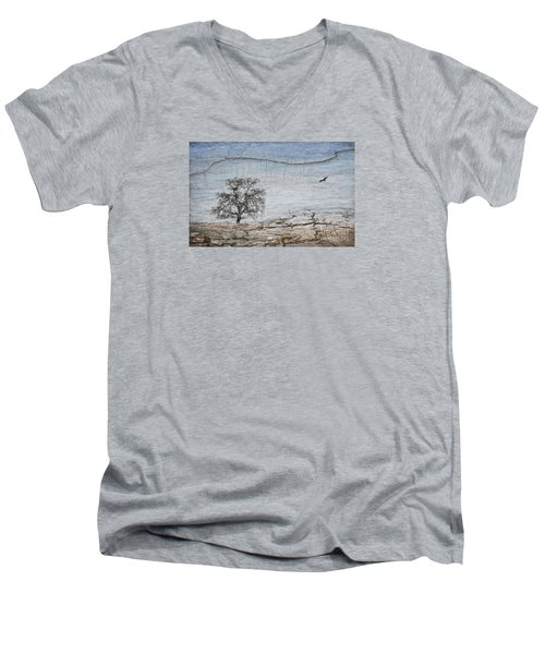 Drought Men's V-Neck T-Shirt by Alice Cahill