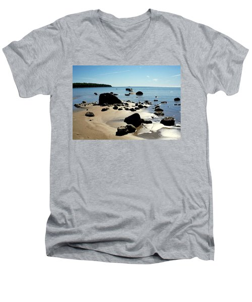 Drummond Shore 2 Men's V-Neck T-Shirt by Desiree Paquette