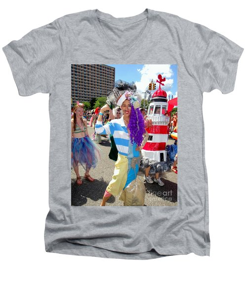 Men's V-Neck T-Shirt featuring the photograph Duality by Ed Weidman