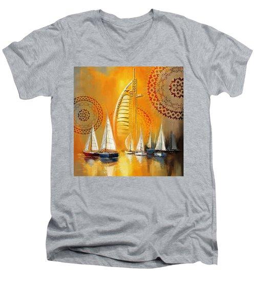 Dubai Symbolism Men's V-Neck T-Shirt