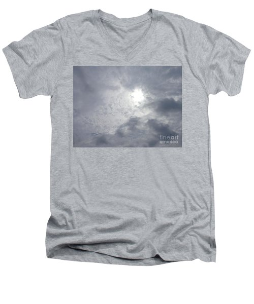 Duck In Beautiful Sky Men's V-Neck T-Shirt by Christina Verdgeline