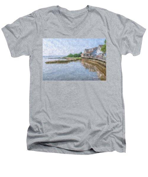 Duck Shops Outer Banks Men's V-Neck T-Shirt