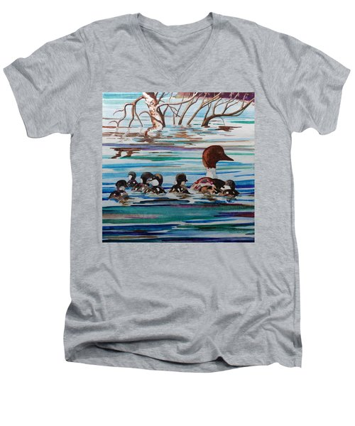 Ducks In A Row Men's V-Neck T-Shirt