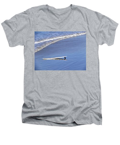 Dude Where Is My Surfer Men's V-Neck T-Shirt