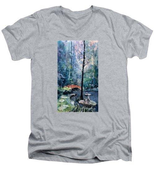 Duke Gardens Watercolor Batik Men's V-Neck T-Shirt
