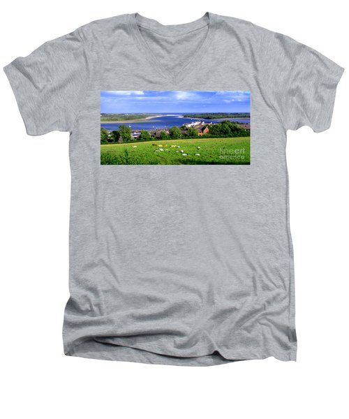 Dundrum Bay In County Down Ireland Men's V-Neck T-Shirt by Nina Ficur Feenan