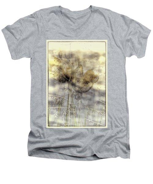 Dune Grass On Yucca Men's V-Neck T-Shirt