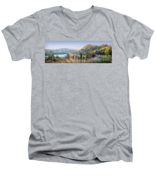 Dune Lake Panorama Saugatuck Mi Men's V-Neck T-Shirt