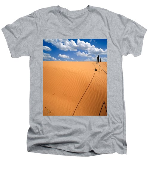 Dunes And Clouds Men's V-Neck T-Shirt
