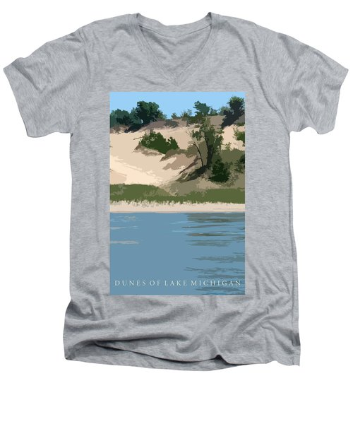 Dunes Of Lake Michigan Men's V-Neck T-Shirt