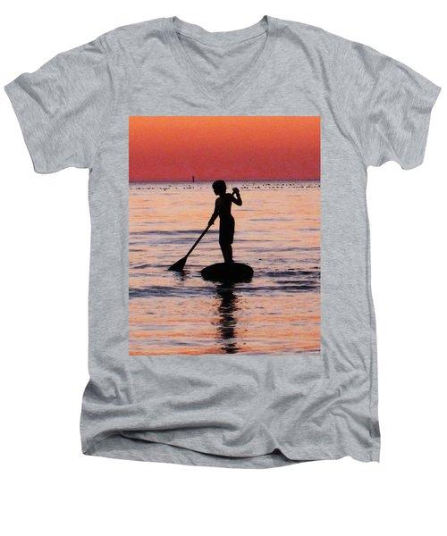 Dusk Float - Sunset Art Men's V-Neck T-Shirt