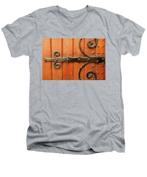 Men's V-Neck T-Shirt featuring the photograph Dutch Hinge by KG Thienemann
