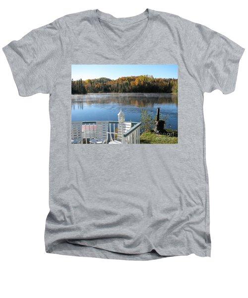 Early Autumn Morning Men's V-Neck T-Shirt