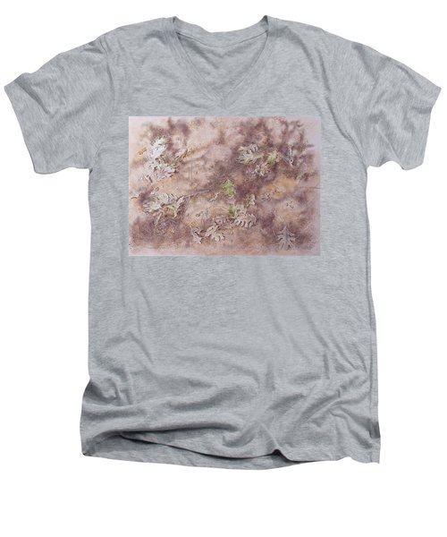Early Fall Men's V-Neck T-Shirt by Michele Myers