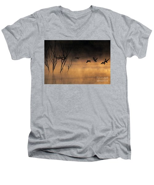 Early Morning Flight Men's V-Neck T-Shirt