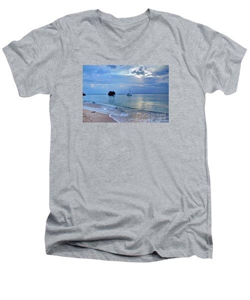 Early Morning Light Men's V-Neck T-Shirt by Bob Hislop