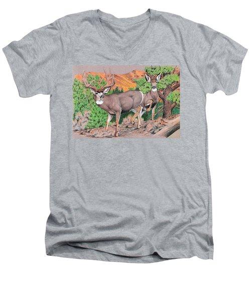 Early Morning Retreat Men's V-Neck T-Shirt