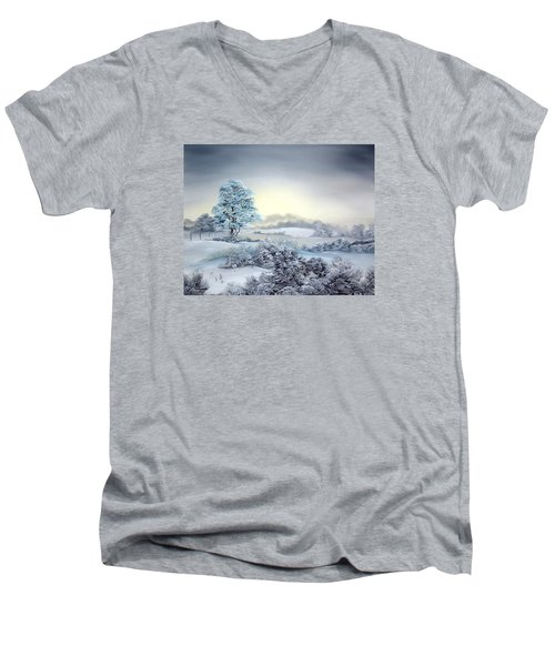 Early Morning Snows Men's V-Neck T-Shirt