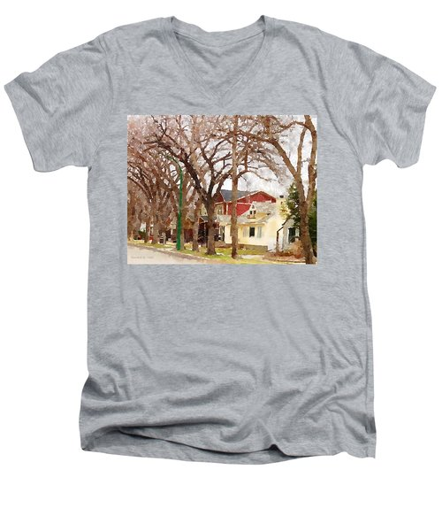 Early Spring Street Men's V-Neck T-Shirt