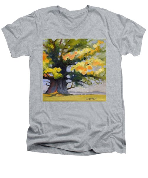 Earlysville Virginia Ancient White Oak Men's V-Neck T-Shirt